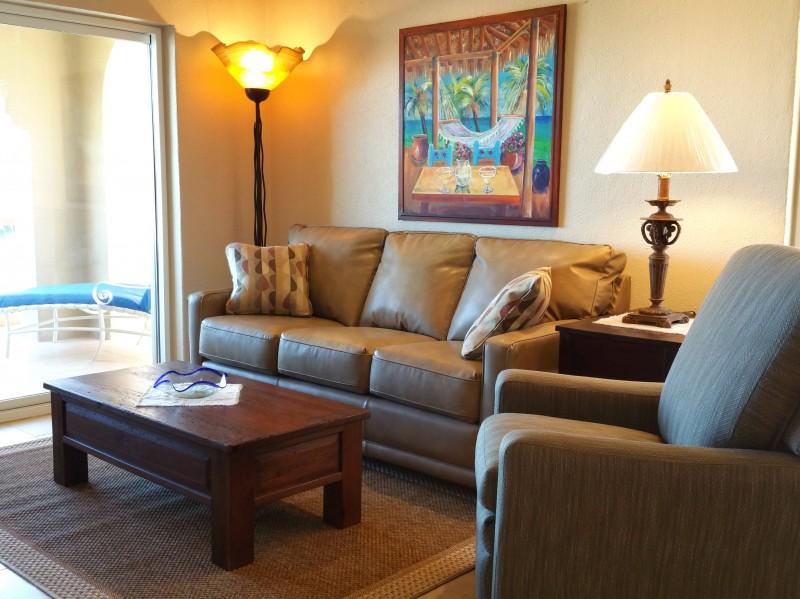 Comfy & spacious living area.