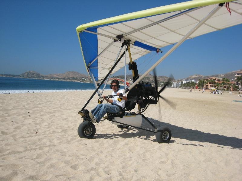 Sail plane rides from the beach.